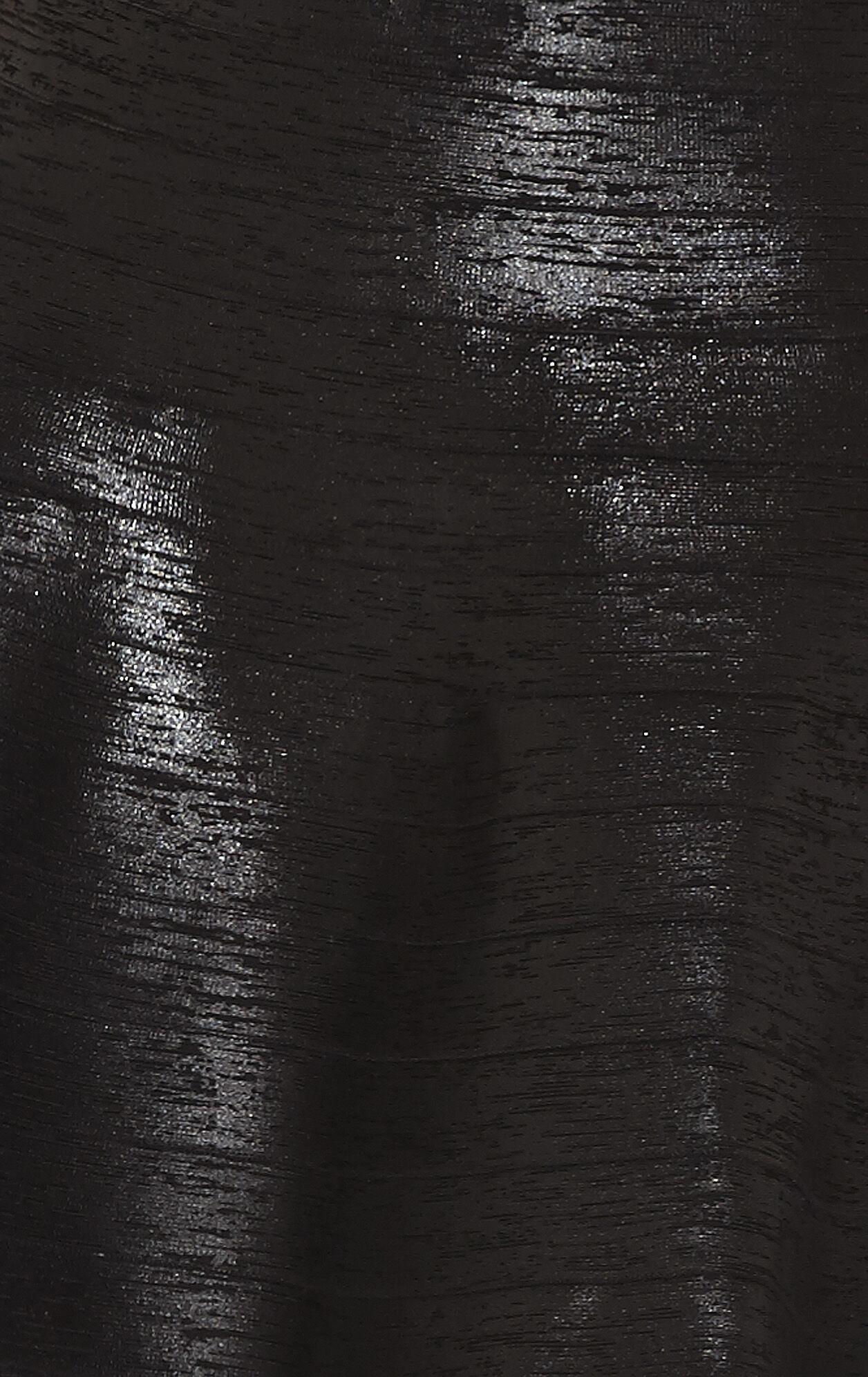 Savio Woodgrain Foil-Print Bandage Skirt