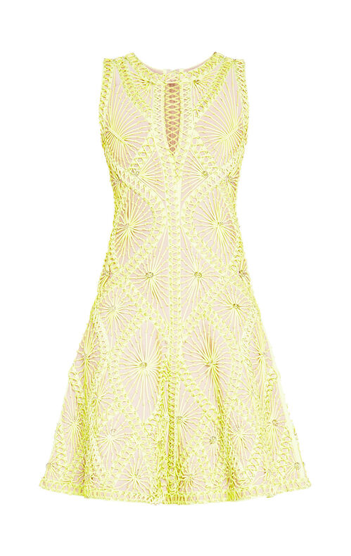 Vitoria Sunburst Knotted Lacing Rings Dress