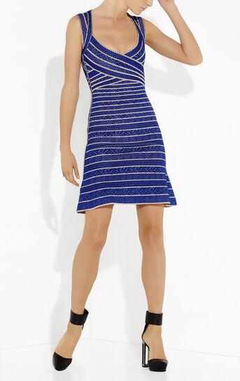 Kamron Multi Chevron Textured Tipping Dress