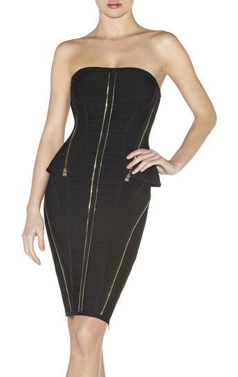 Xandra Zipper-Detailed Dress