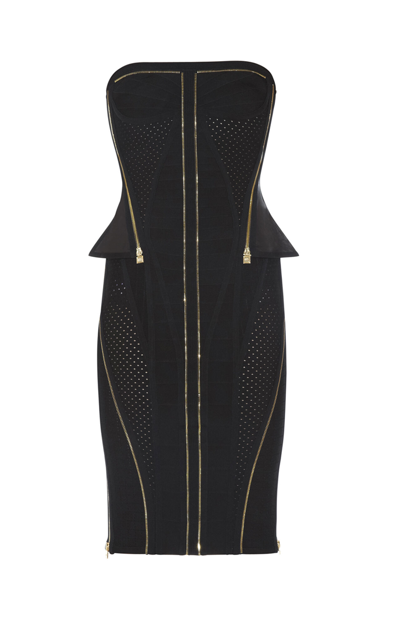 Xandra Zipper-Detailed Dress