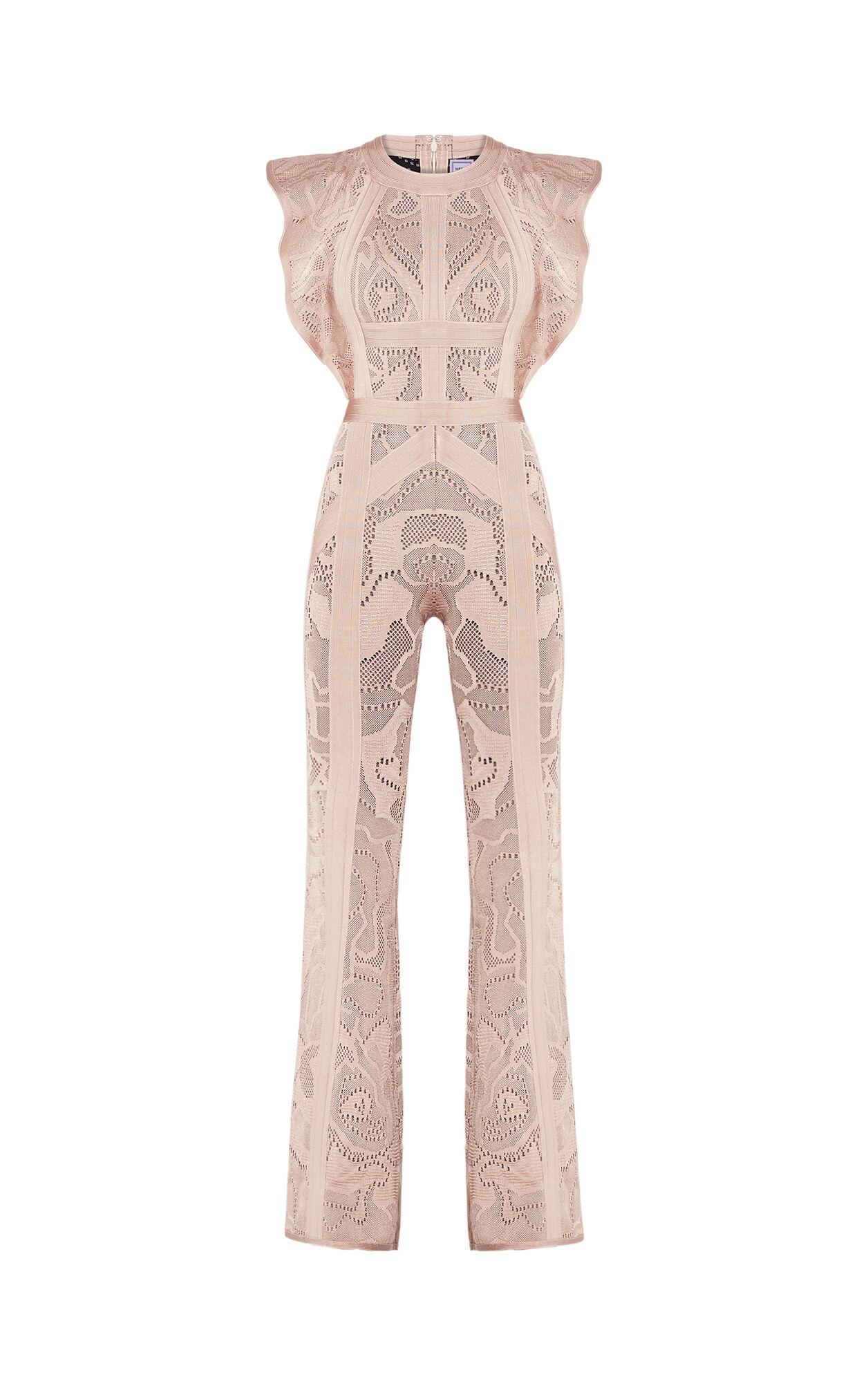 Kasie Rose Multi-Texture Plaited Jacquard Jumpsuit