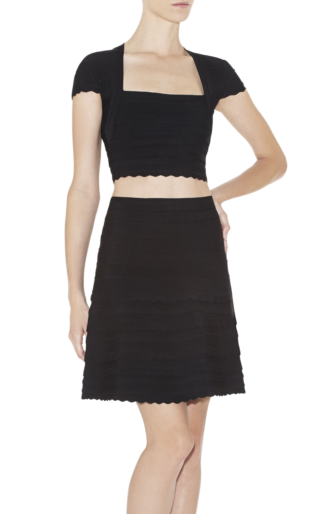 Aris Scalloped-Edge Crop Top