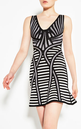 Milana Stripe Lacing Detail Dress