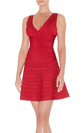 Nikayla Scalloped-Edge Dress