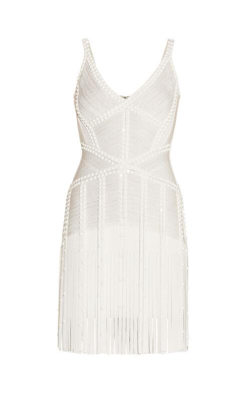 Jadelyn Embellished Draped Bandage Dress