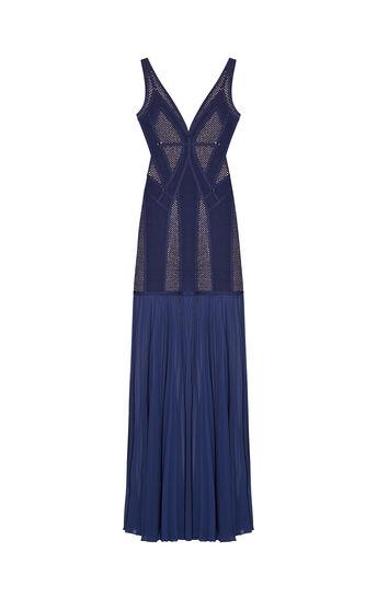 Dasha Plaited Mesh Ring Detail Dress