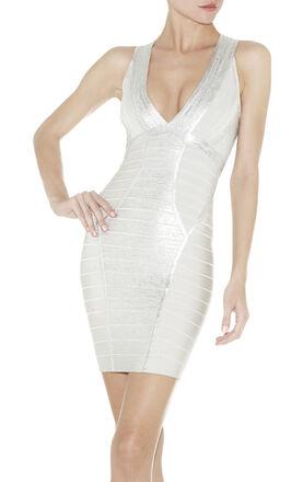 SIGRID FOIL-PRINT DRESS
