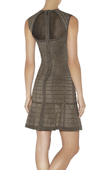 Natalija Cage Plated Pointelle Dress