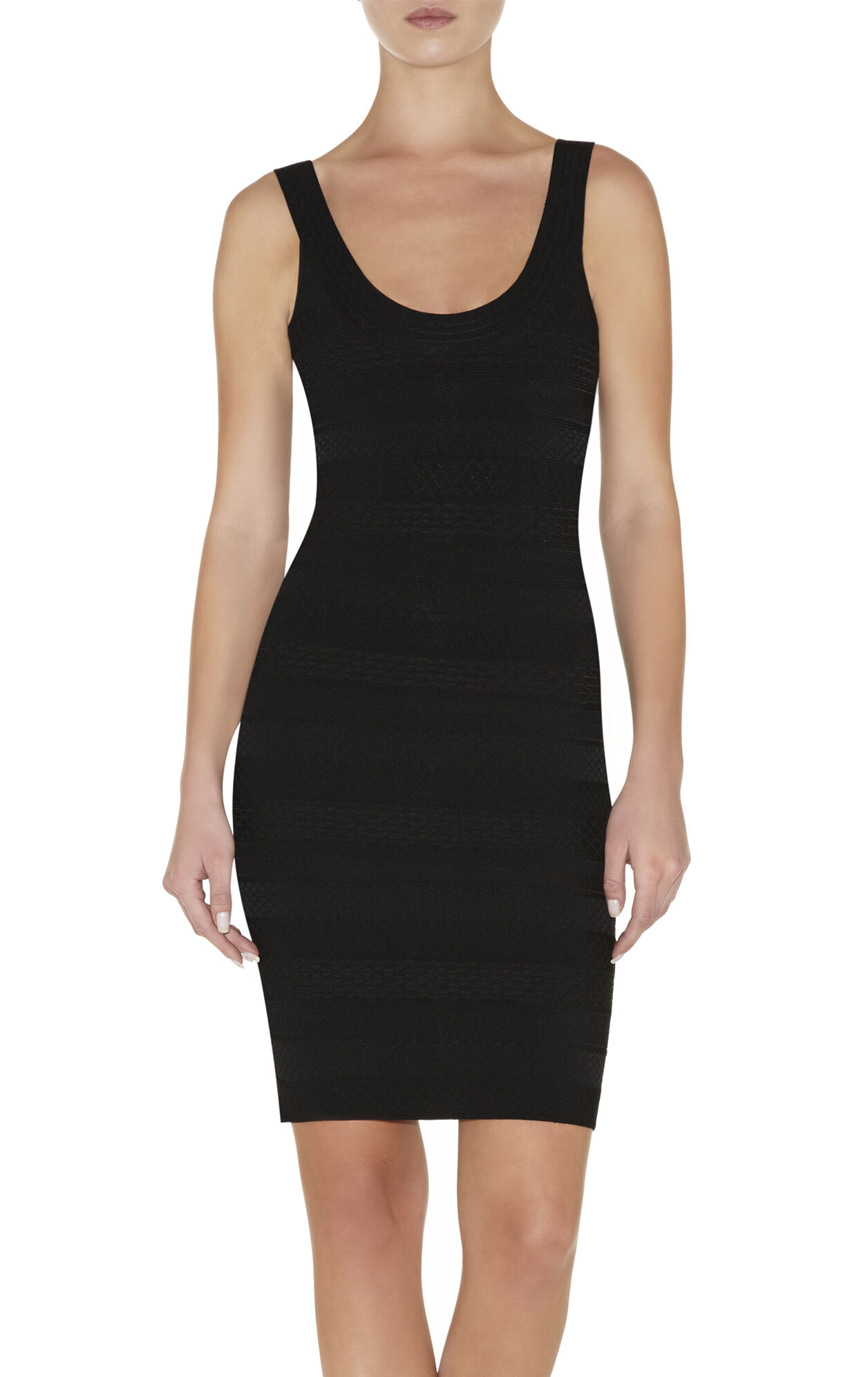 Lilykate Embossed-Texture Bandage Dress