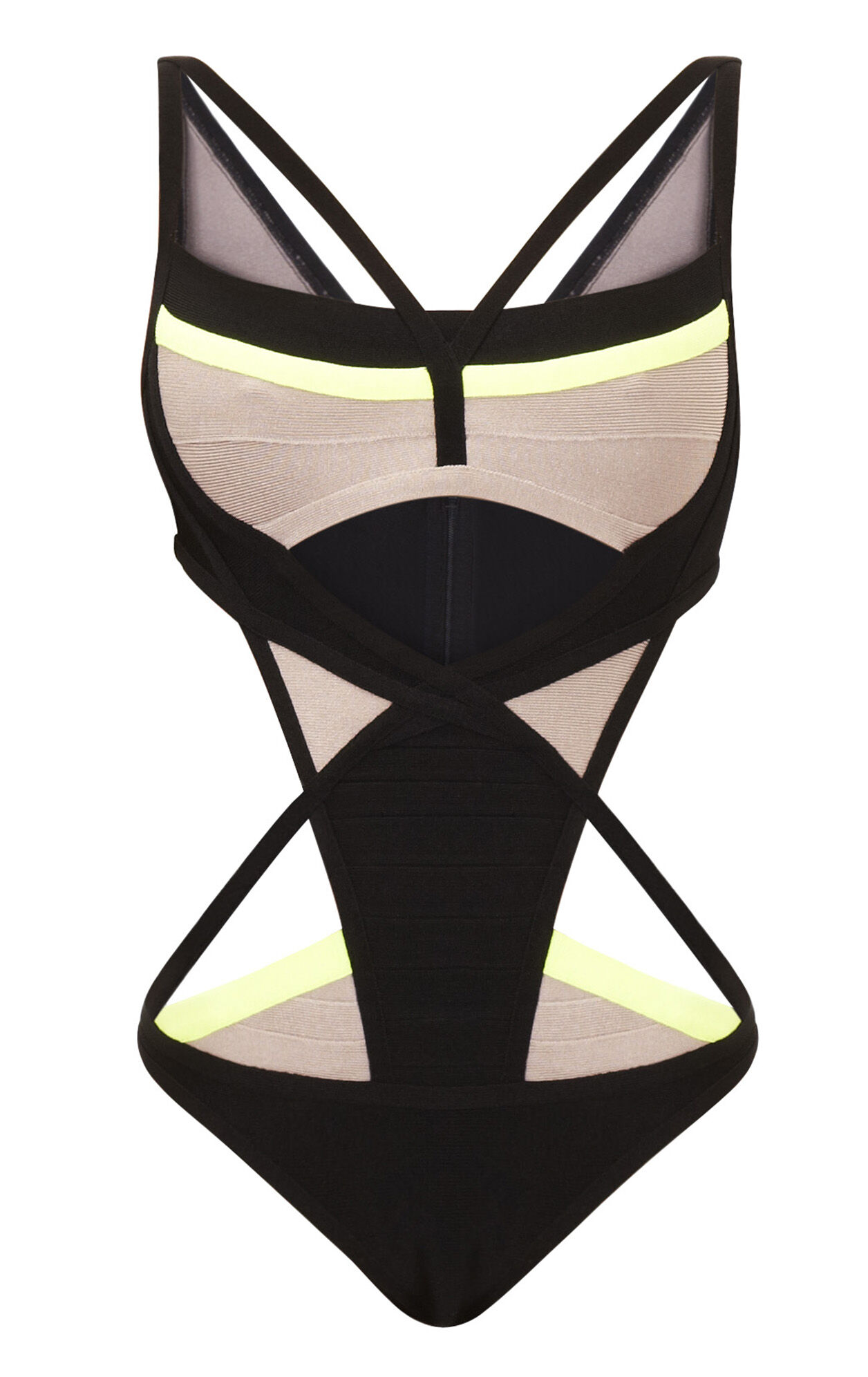 Audrie Engineered Colorblocked One-Piece Swimsuit