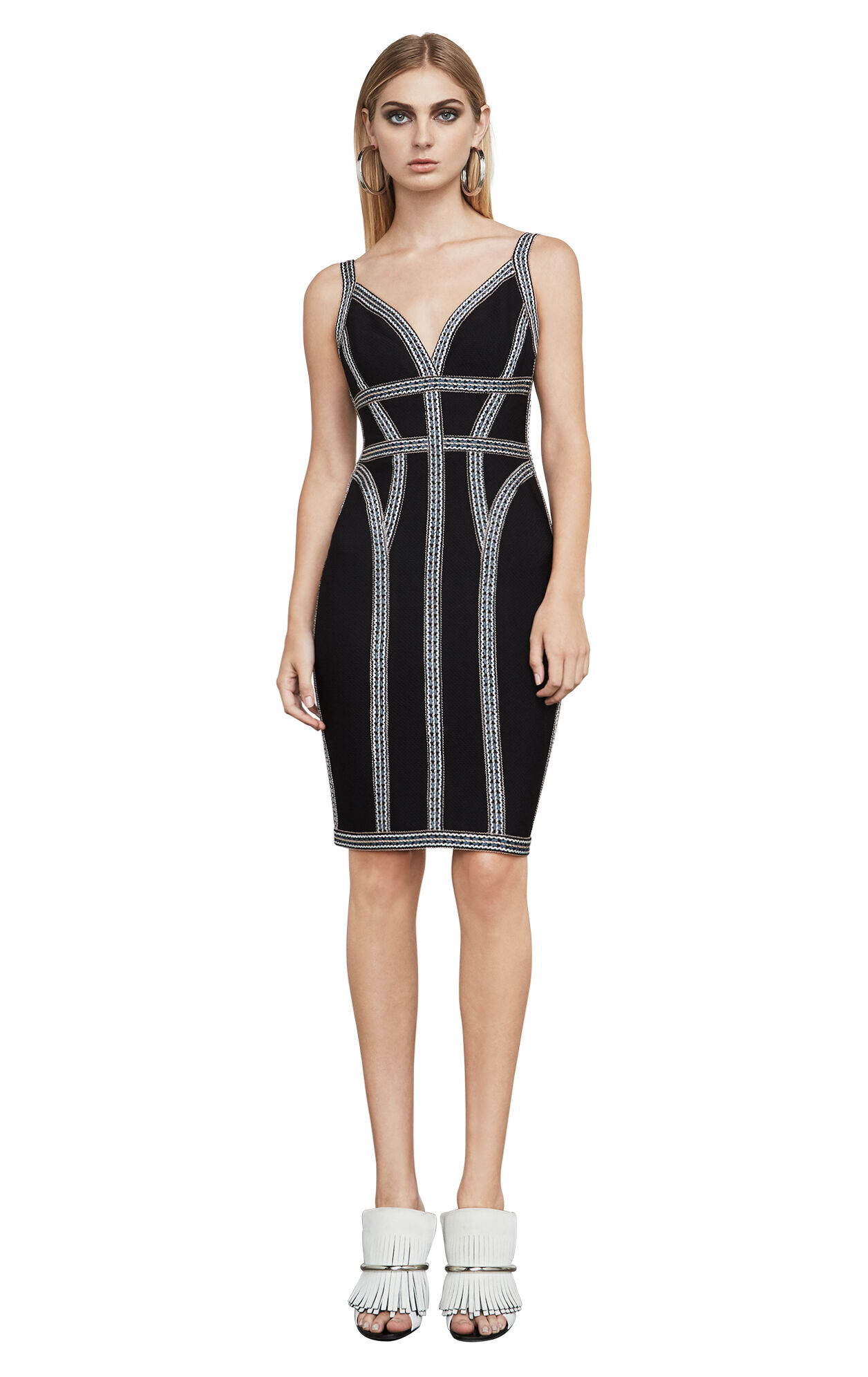 Zola Geometric Jacquard Bandage Dress