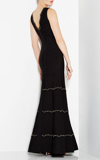 Matilde Lace Scallop Metal Eyelets Gown