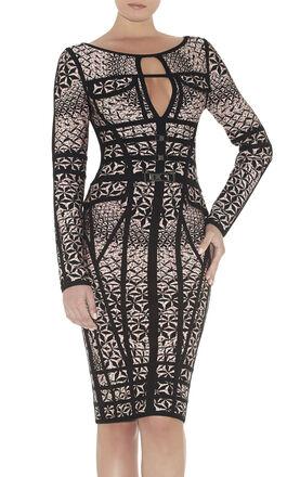 Lara Heathered Sundial Jacquard Dress