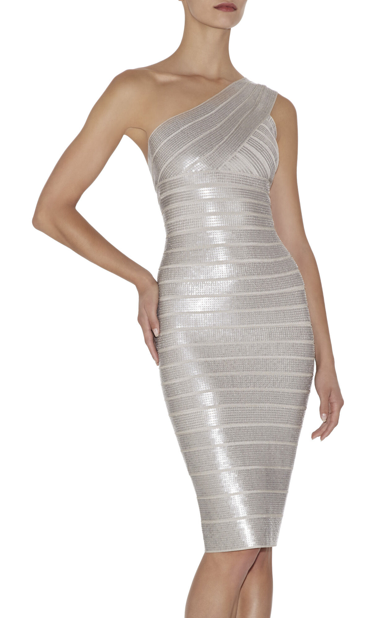 Fione Sequin Single-Shoulder Dress