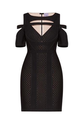 Kasia Keyhole Mesh Dress