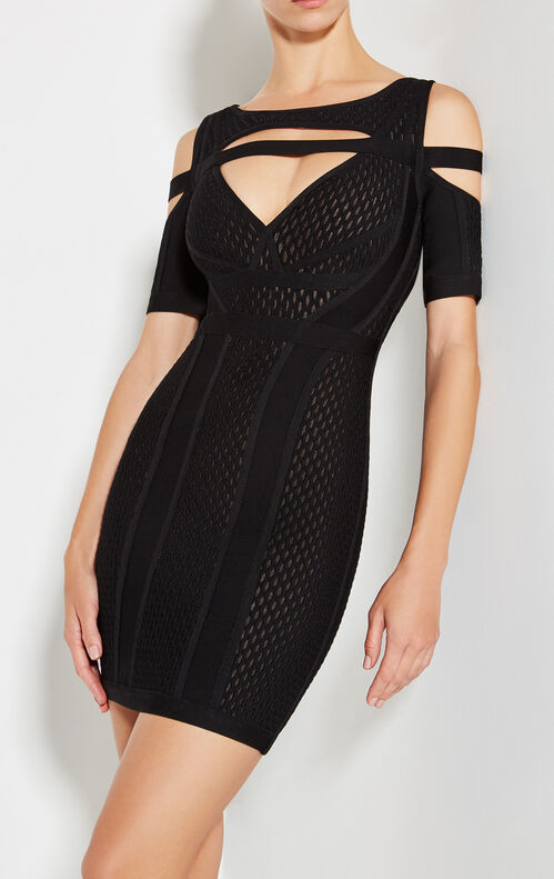 Kasia Keyhole Mesh Dress