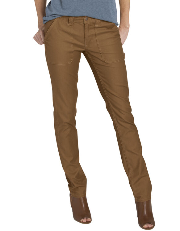 Women's Heritage Stonewashed Duck Carpenter Pant - STONEWASHED BROWN DUCK (SBD)