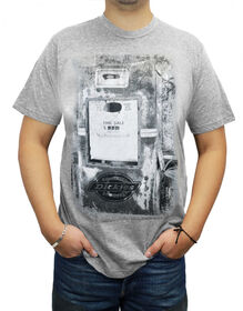 Men's Graphic Melange SS Tee - HEATHER GRAY (HG)