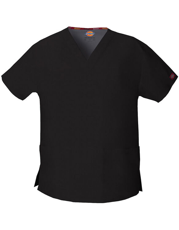 Women's EDS Signature V-Neck Scrub Top - BLACK (BLK)