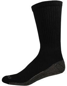 Dri-Tech Comfort Crew Socks, 6-Pack - BLACK (BK)