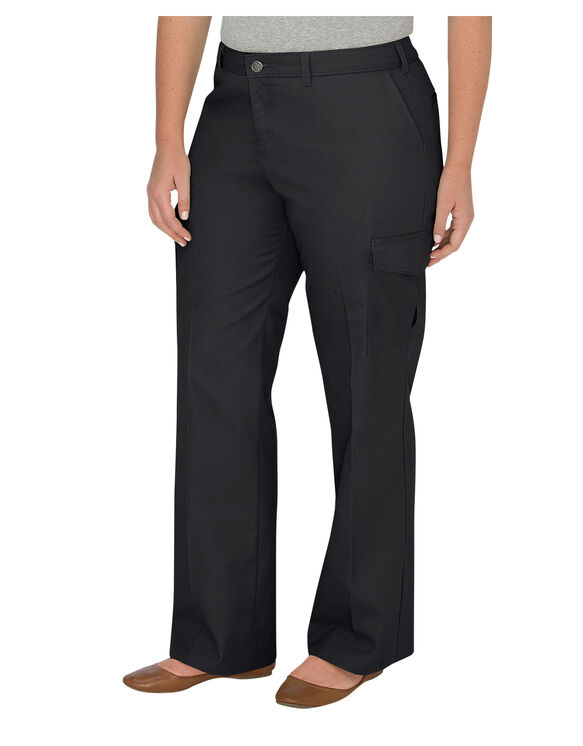 Women's Relaxed Straight Server Cargo Pant (Plus) - BLACK (BK)