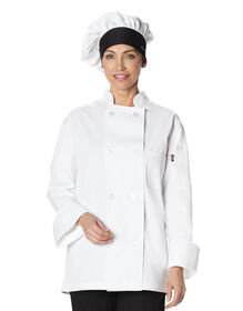 Unisex Traditional Chef Hat - BLACK/WHITE (BKWH)