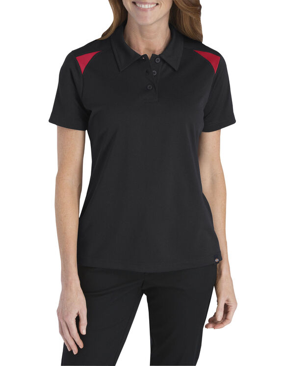 Women's Performance Shop Polo - BLACK/ENGLISH RED (BKER)