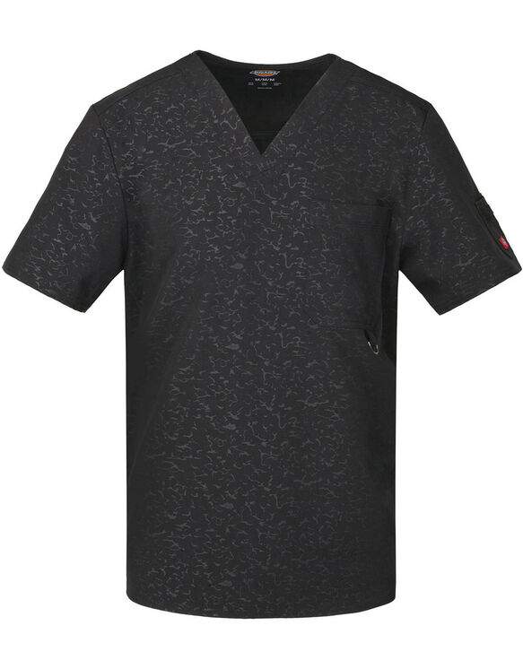 Men's Xtreme Stretch V-Neck Scrub Top - CAMO-KAZEE BLACK-LICENSEE (CABK)