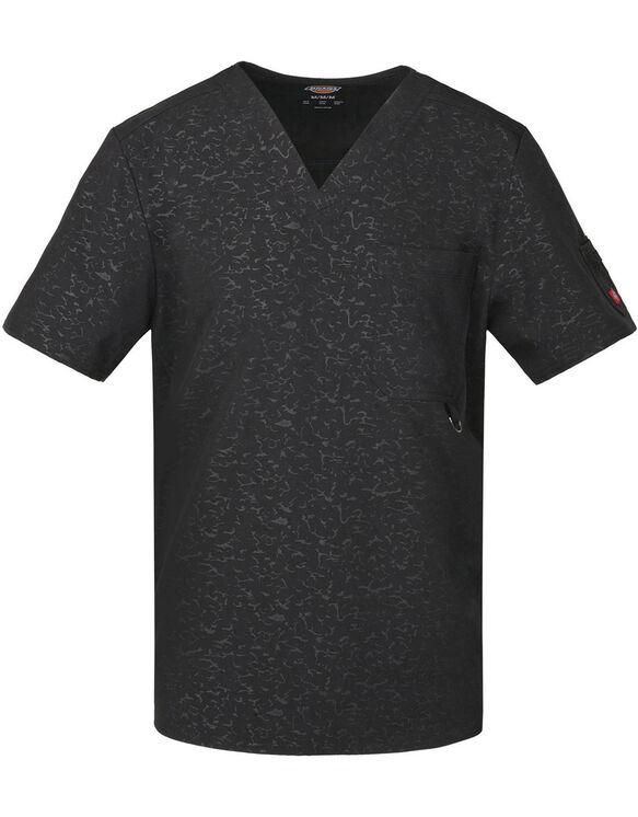 Men's Xtreme Stretch V-Neck Scrub Top - CAMO-KAZEE BLACK-LICENSEE (CABK)