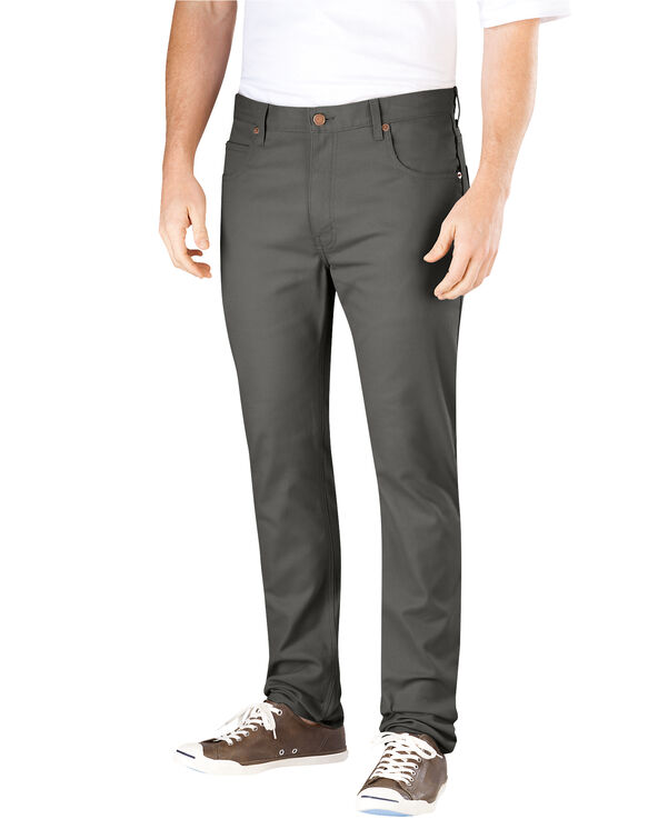 Flex Slim Skinny Fit 5-Pocket Pant - GRAVEL GRAY (VG)