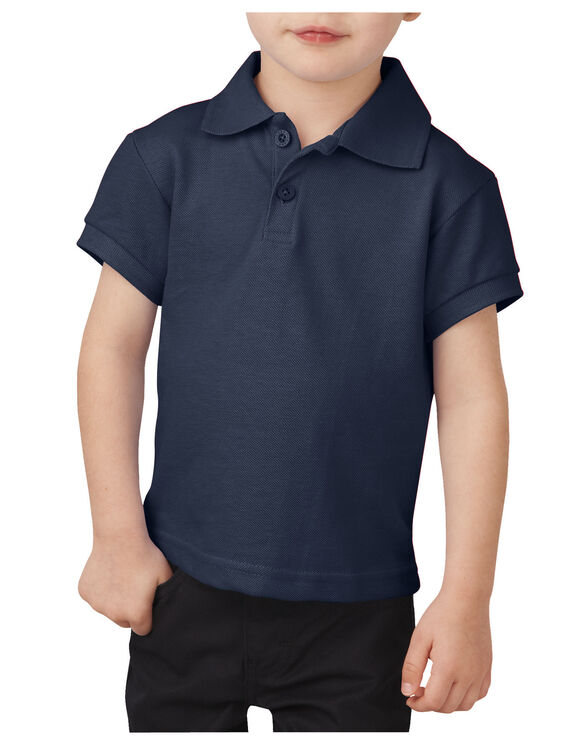 Toddler Short Sleeve Piqué Polo Shirt - DARK NAVY (DN)
