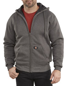 Heavyweight Quilted Fleece Hoodie - DARK HEATHER GREY (DH)