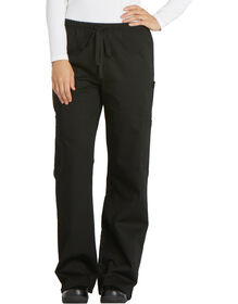 Women's Cargo Pocket Chef Pant - BLACK-LICENSEE (BLK)