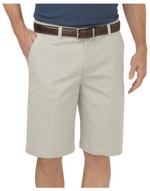 "Dickies KHAKI 10"" Regular Fit Flat Front Short"