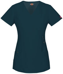 Women's XTreme Stretch Mock Wrap Scrub Top - CARIBBEAN-LICENSEE (CRB)