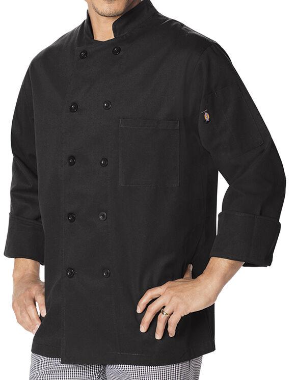 Unisex Classic 10 Button Chef Coat - BLACK (BLK)