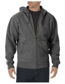 Midweight Fleece Full Zip Hoodie - DARK HEATHER GREY (DH)