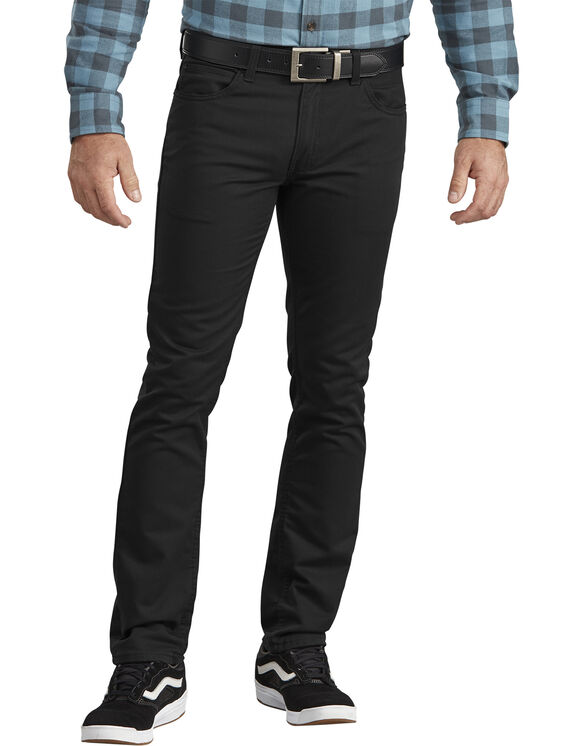 Dickies X-Series Flex Slim Fit Tapered Leg 5-Pocket Pant - STONEWASHED BLACK (SBK)