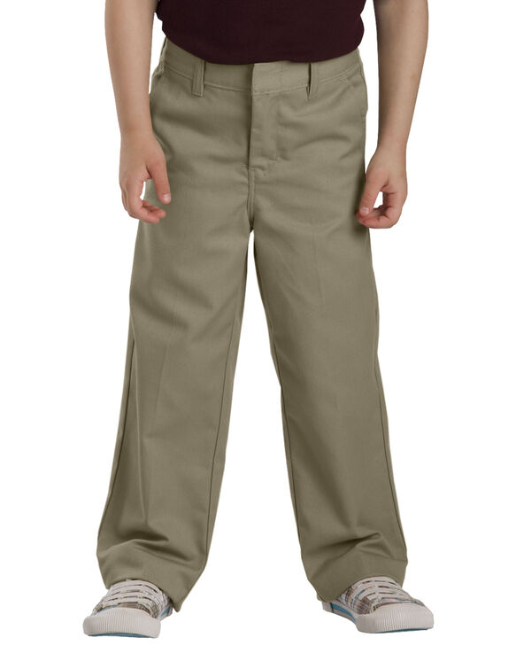 Girls'  Flat Front Pant, 4-6 - KHAKI (KH)