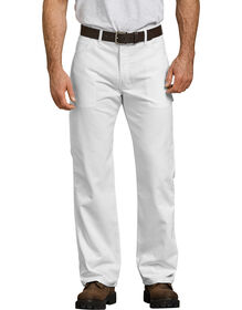 Flex Relaxed Fit Straight Leg Painter's Pant - WHITE (WH)