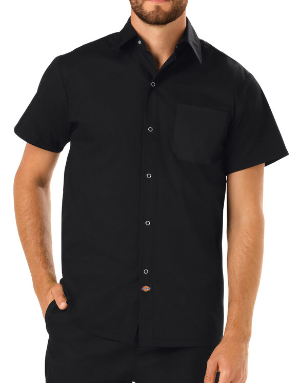 Men's Poplin Cook Shirt - BLACK (BLK)