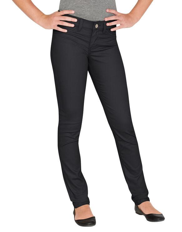 Juniors Schoolwear Super Skinny Fit Skinny Leg Pant, 0-15 - RINSED BLACK (RBK)