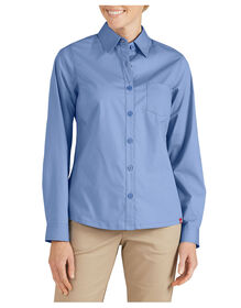 Women's Long Sleeve Service Shirt - FRENCH BLUE (FB)