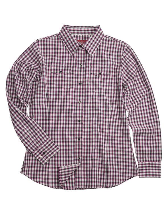 Walls® Women's Small Fuchsia Plaid Shirt - PLAID (PL9)
