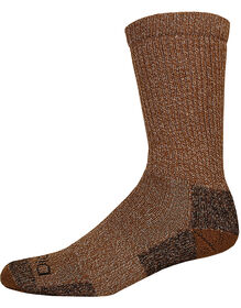 Steel Toe Moisture Control Crew Socks, Size 6-12 - BROWN DUCK (BD)