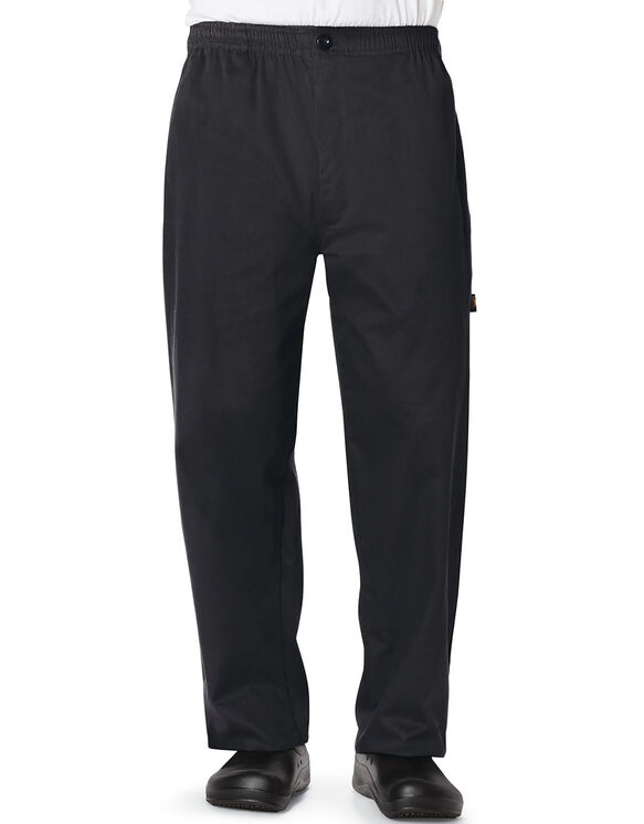 Men's Classic Trouser Chef Pant - BLACK-LICENSEE (BLK)