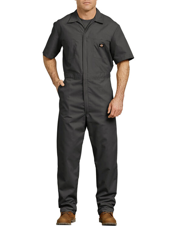 Short Sleeve Coverall - BLACK (BK)