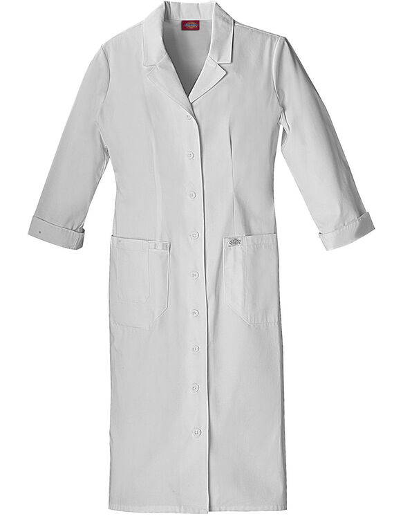 Women's EDS Button Front Scrubs Dress - DICKIES WHITE-LICENSEE (DWH)