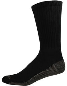 Dri-Tech Quarter Socks, 6-Pack, Size 12-15 - BLACK (BK)